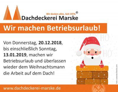 Betriebsurlaub Dachdeckekrei Marske 2018.