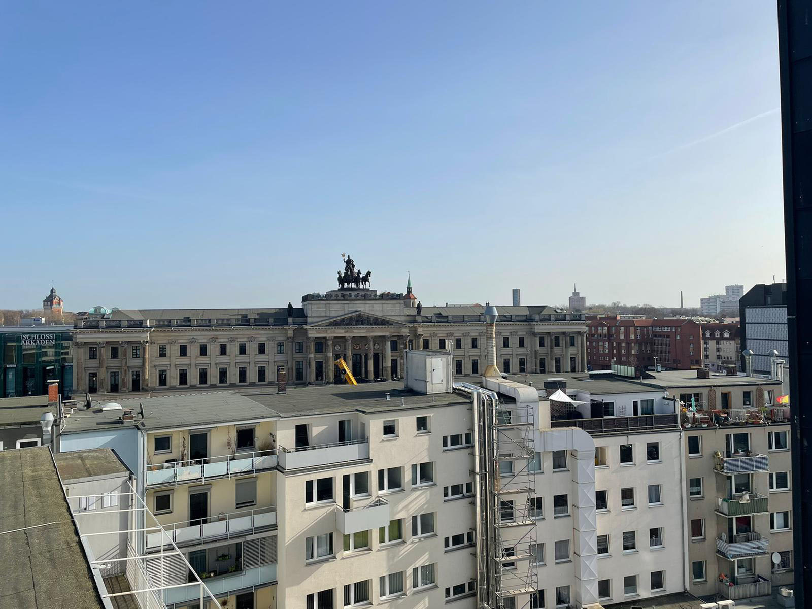 Blick auf die Schlossarkaden Braunschweig