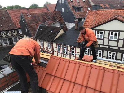 Dacheindeckung in Wolfenbüttel.