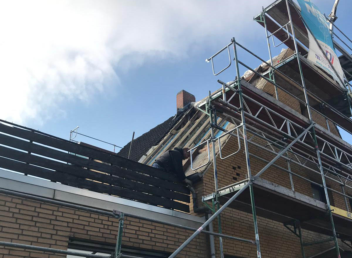 Dachsanierung in Braunschweig Stöckheim.