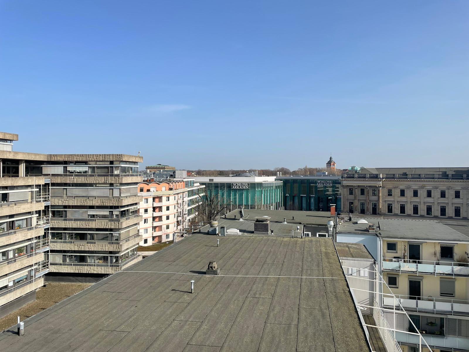 Flachdach in der Braunschweiger Innenstadt