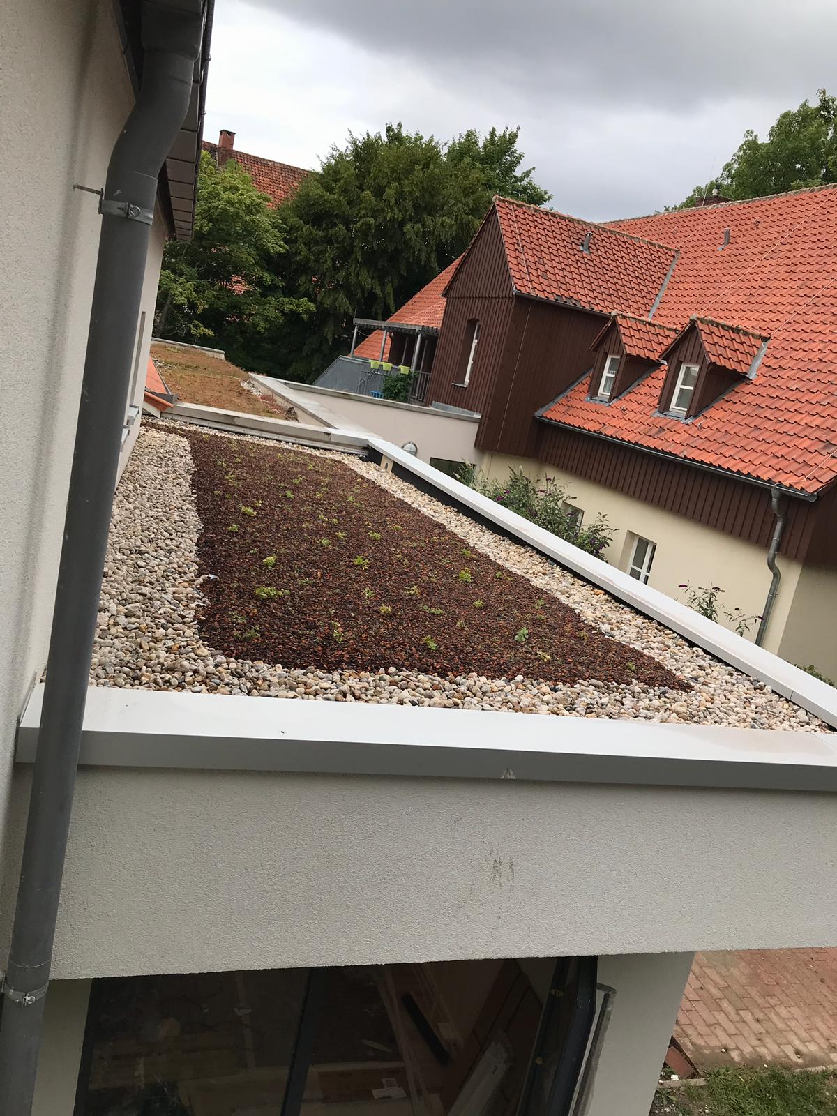Dacheinfassung aus Metall Flachdach