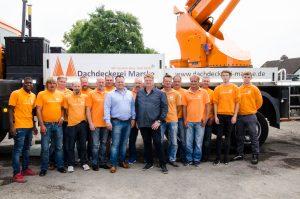 Das Team der Dachdeckerei Marske aus Salzgitter.