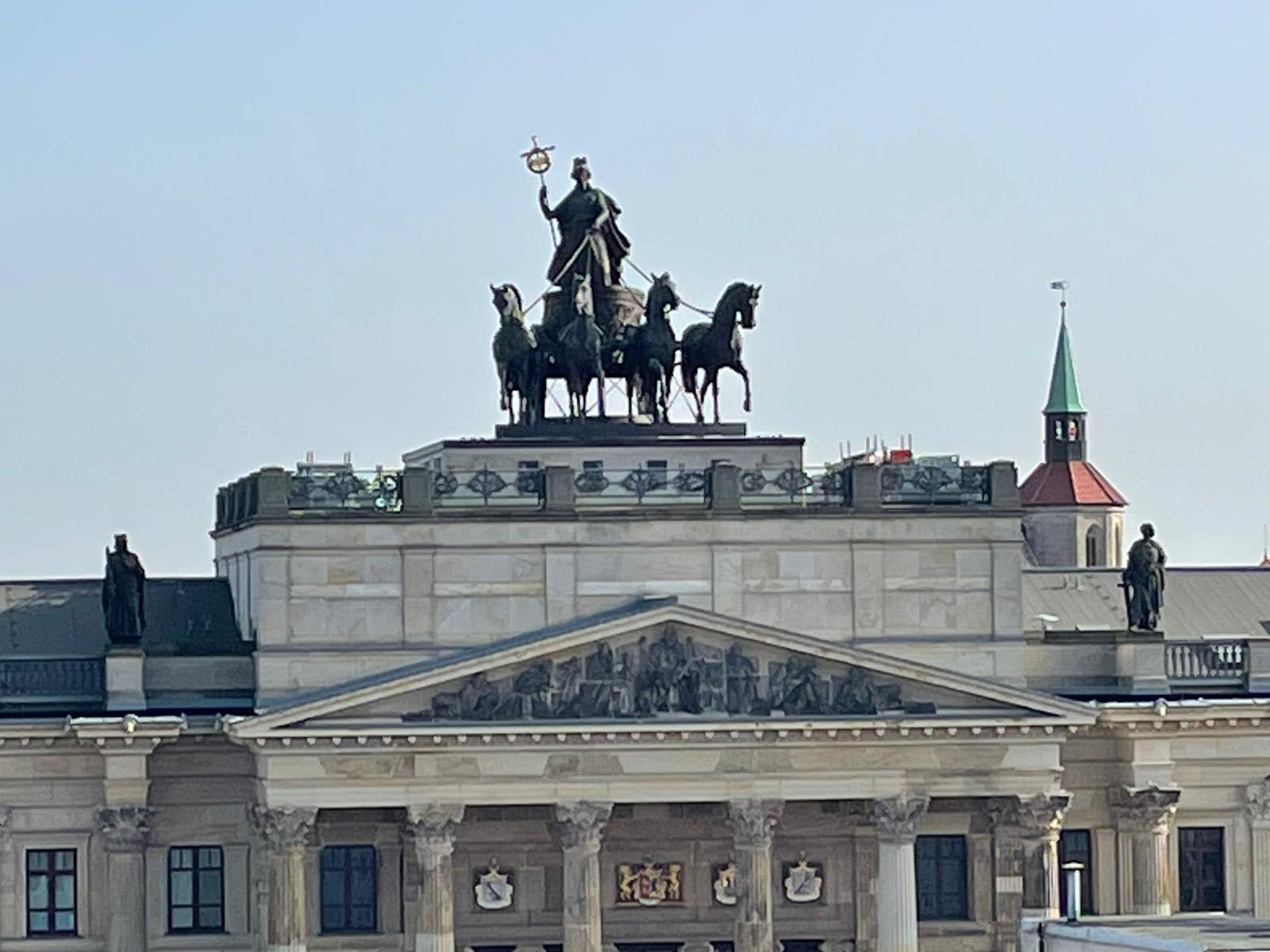 Quadriga des Schlosses in Braunschweig