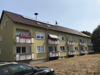 Fertige Dacheindeckung mit Betonstein