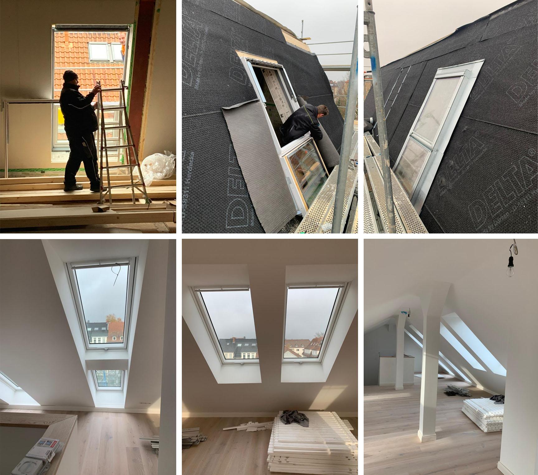 Einbau neuer VELUX-Dachfenster