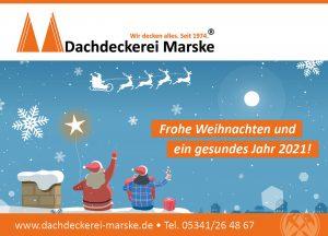 Dachdeckerei Marske aus Salzgitter wünscht frohe Weihnachten!